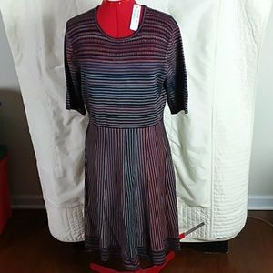 NWT Spenser fit and flare striped dress  XL